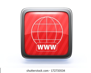 www square icon on white background