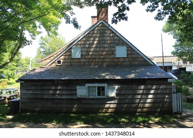 The Wyckoff House, or Pieter Claesen Wyckoff House is located at 5816 Clarendon Road in the Canarsie area of Brooklyn. The house itself is located in Milton Fidler Park Brooklyn NY JUne 2019