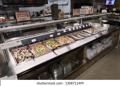 WYCKOFF, NEW JERSEY/USA - February 1, 2019: ShopRite of Wyckoff at 430 Greenwood Avenue in Wyckoff, NJ. Editorial use only.