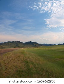 Wyoming landscape on sunny day, USA