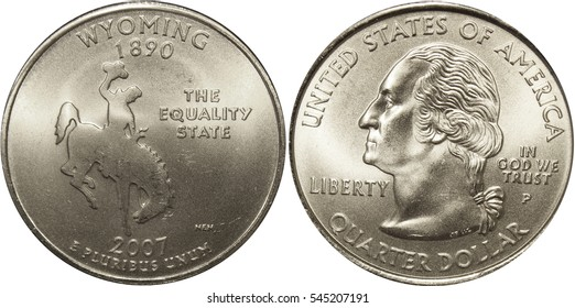 Wyoming State Quarter US Coin