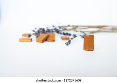 wyrd. Scandinavian runes. Wooden runes on a table on a white background.