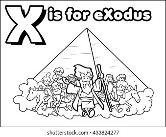 X is for eXodus Coloring Activity