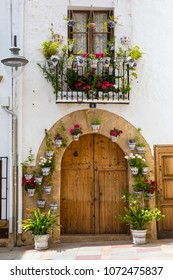 XABIA, SPAIN - APRIL 11TH 2018: A detail of the beautiful old town of Xabia, also knonw as Javea, in Spain, on 11th April 2018.
