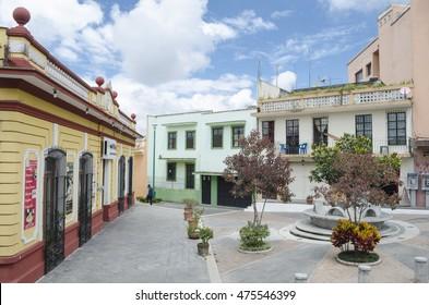 XALAPA, VERACRUZ, MEXICO- JULY 18, 2016: View of Corredor Carlos Fuentes in Xalapa, Veracruz, Mexico