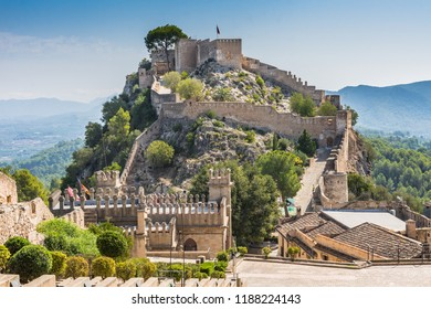 Xativa castle in Spain