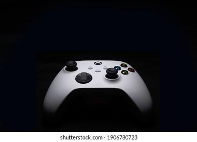 Xbox Series S controller isolated, 1 Fev, 2021, Sao Paulo, Brazil.