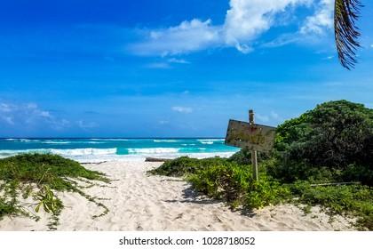 Xcacel Beach in Yucatan, Mexico