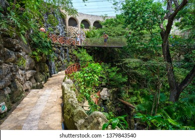 XCARET,MEXICO - APRIL 16,2019 : The aviary at XCaret park on the Mayan Riviera