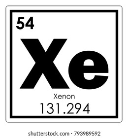 Xenon chemical element periodic table science symbol