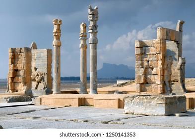 Xerxes' Gateway. Persepolis (6th-4th century BC), capital of the Achaemenid Empire (World Heritage Site since 1979), Iran.