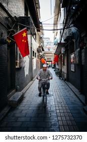 XI AN, CHINA-OCTOBER 21, 2018:Man posing near the mosque , 21 October 2018