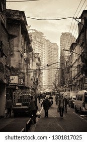 "XIAMEN, CHINA – FEB 16: Street view on February 26, 2018 in Xiamen. Xiamen was ranked as China's 2nd-""most suitable city for living"""