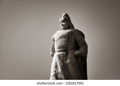 "XIAMEN, CHINA – FEB 16: Zheng Chenggong statue closeup on February 26, 2018 in Xiamen. Xiamen was ranked as China's 2nd-""most suitable city for living"""