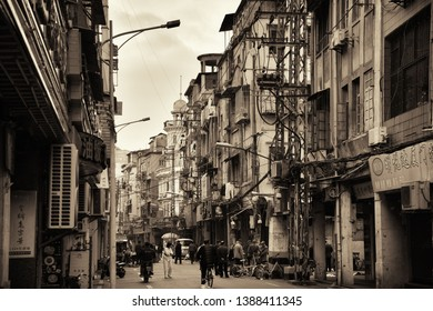 """XIAMEN, CHINA – FEB 26: Street view on February 26, 2018 in Xiamen. Xiamen was ranked as China's 2nd-""""most suitable city for living"""""""