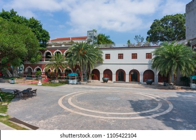 Xiamen, China - May 30, 2018: Yard of Gulangyu Gallery of Foreign Artefacts Building in Gulangyu Island