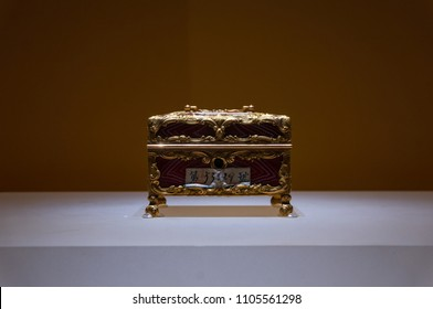 Xiamen, China - May 30, 2018: Foreign Artefact at Gulangyu Gallery of Foreign Artefacts from The Palace Museum Collection in Gulangyu Island