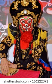 """XIAMEN, CHINA- NOVEMBER 16: Chinese traditional """"Face Change"""" show in Xiamen, South of China in November 16, 2013. Xiamen is a famous harbor city located in South-east of China."""