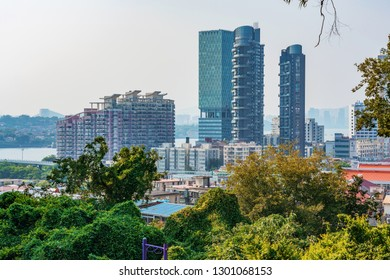XIAMEN, CHINA -OCTOBER 09: This is a view of modern city buildings and nature near Xiamen University  on October 09, 2018 in Xiamen