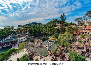 XIAMEN, CHINA -OCTOBER 12: View of Shuzhuang Garden, an historic traditional Chinese Garden and popular tourist destination on October 12, 2018 in Xiamen