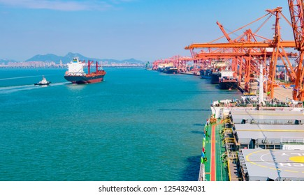Xiamen Port, China. Container logistics transportation.