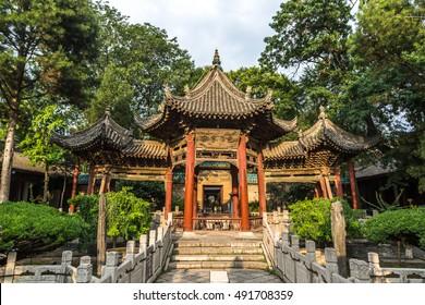 Xian, China - July 15th 2016 - Cloudy day in a mosque in Xian City in China
