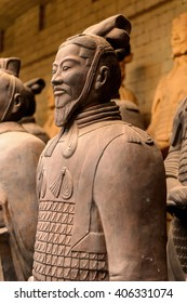 XIAN, CHINA - MAR 29, 2016: Terracotta Warrior at the sovenir shop in Xian, China.  Terracotta Army was discovered on 29 March 1974