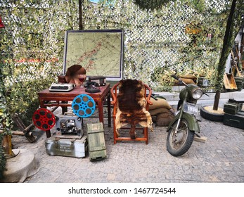 xian, China- may 13,2019: A battle field office scene from the 1940s in China