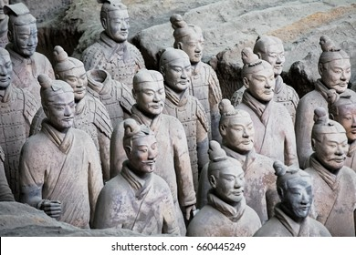 Xian, China, May 28, 2017  The world famous Terracotta Army, part of the Mausoleum of the First Qin Emperor and a UNESCO World Heritage Site located in Xian China