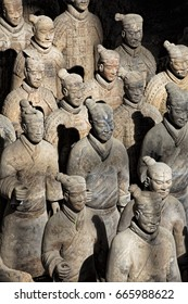 Xian China, May 28, 2017  The world famous Terracotta Army, part of the Mausoleum of the First Qin Emperor and a UNESCO World Heritage Site located in Xian China