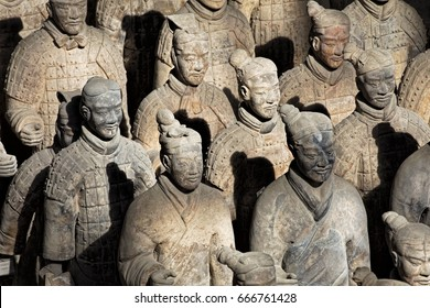 Xian China, May 29, 2017  The world famous Terracotta Army, part of the Mausoleum of the First Qin Emperor and a UNESCO World Heritage Site located in Xian China