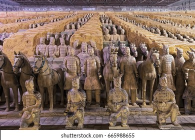 Xian China, May 30, 2017  The world famous Terracotta Army, part of the Mausoleum of the First Qin Emperor and a UNESCO World Heritage Site located in Xian China