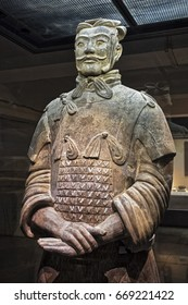 Xian China, May 30, 2017  One of eight generals unearthed of the world famous Terracotta Army, part of the Mausoleum of the First Qin Emperor and a UNESCO World Heritage Site located in Xian China