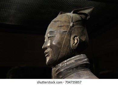 XIAN, CHINA - NOVEMBER 21, 2017: The world famous Terracotta Army part of the Mausoleum of the First Qin Emperor and a UNESCO World Heritage Site located in Xian China