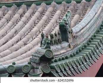 Xi'an / Chinese Roofs / picture showing the stunning and detailed chinese roof tiles taken in Xi'an, China. October 2015.