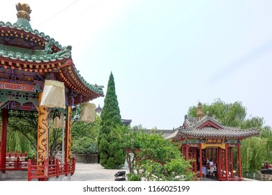 XIAN - JUl 4:Huaqing Palace facade on July 4,2018 in Xian,China. Huaqing Palace having served as the location for several palaces built during the reigns of past Chinese dynastic rulers.