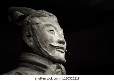 "Xian, Shaanxi pronince, China - May 24, 2018: ""Terracotta Warriors and Horses"" at emperor Qin Shi Huang's burials site"