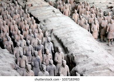 Xi'an Xian terracotta army warriors, Shaanxi, China