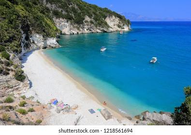Xigia beach on Zakynthos or Zante island, Ionian Sea, Greece.