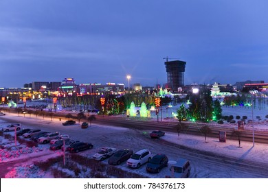 Xilin Gol League in Inner Mongolia urban architectural landscape