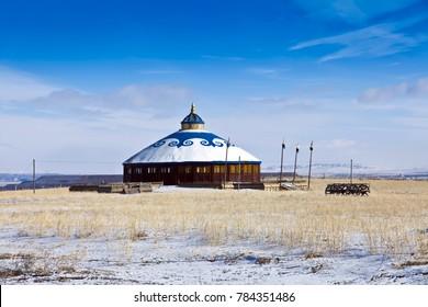 Xilinguole grassland yurt landscape