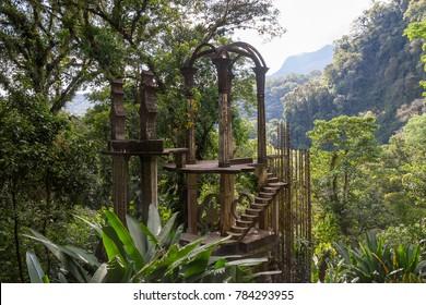 XILITLA, MEXICO - CIRCA NOVEMBER 2017: Edward James Surreal Garden