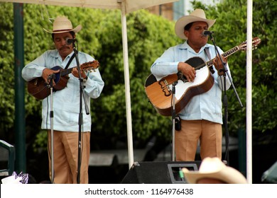Xilitla, San Luis Potosí / Mexico - March 19,2010: Local Musicians Performing for the Town's traditional Dance Weekend.