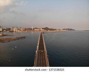 Xinghai Bridge in Dalian, China