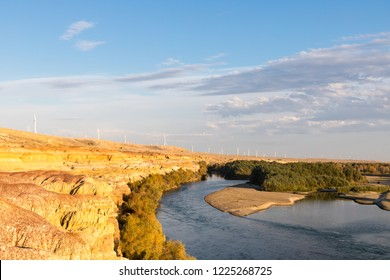 xinjiang colorful beach, formed by the influence of natural effects such as wind erosion and water erosion and leaching, typical Yadan landform, irtysh river, burqin county