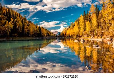 Xinjiang Kanas River scenery