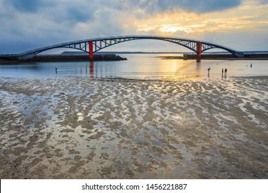 Xiying Rainbow Bridge at sunset;Guan-Yin-Ting;Penghu;Taiwan