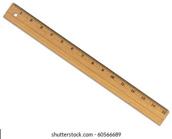 XL Wooden Ruler with Path