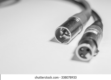 XLR cables cose up. Design elements.