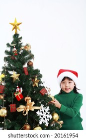 Xmas Lovely Kids on isolated white background